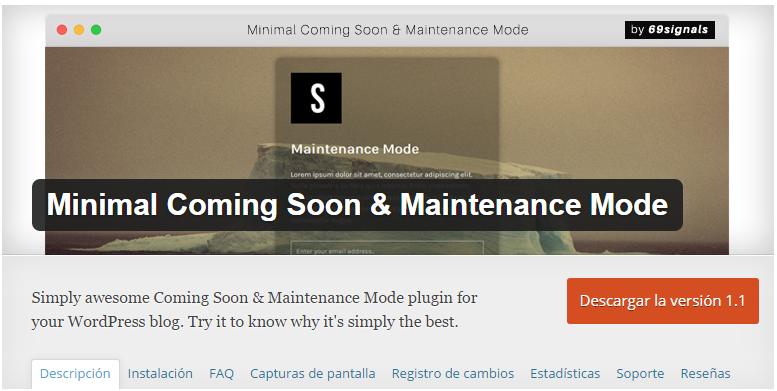 Minimal Coming Soon Maintenance Mode